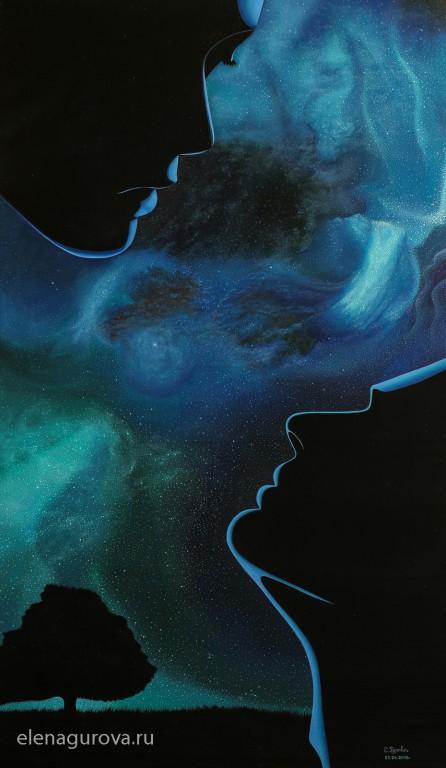 Картина «Адам и Ева», 2015г
